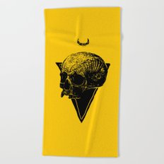 skull2 Beach Towel