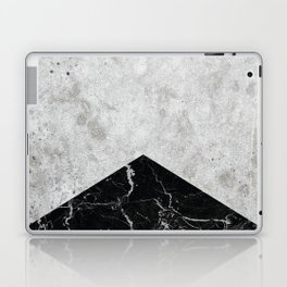 Concrete Arrow Black Granite #844 Laptop & iPad Skin