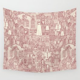 vintage halloween claret ivory Wall Tapestry