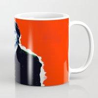 brad pitt Mugs featuring Brad Roberts by Alec Goss