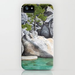 Tree in the Boulders iPhone Case