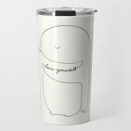 Love Yourself Penguin Travel Mug