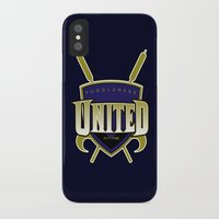 quidditch iPhone & iPod Cases featuring Quidditch Teams of the World: Puddlemere United by Rockabirdie