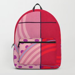 August - dot graphic Backpack