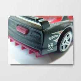 Macro Hot Wheels: Dodge Viper GTS-R [1995] Metal Print
