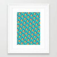 squirtle Framed Art Prints featuring Squirtle Squad by pkarnold + The Cult Print Shop
