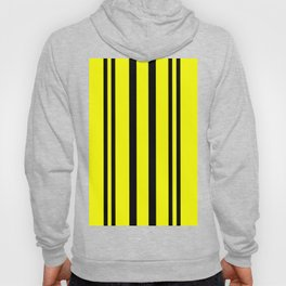 NEON YELLOW AND BLACK THIN AND THICK STRIPES Hoody