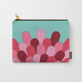 Patched Up Circle Carry-All Pouch