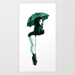 Acid Rain - Cyberpunk Pinup Art Print