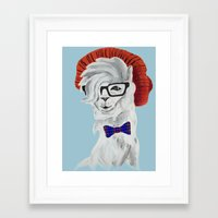 alpaca Framed Art Prints featuring ALPACA by BMAN0212