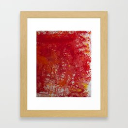 Blood is the New Black Framed Art Print
