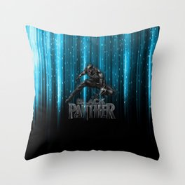 BP on blue Throw Pillow