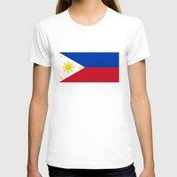 philippines T-shirts featuring Republic of the Philippines national flag (50% of commission WILL go to help them recover) by Bruce Stanfield