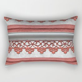 Coral Pink Wrought Iron Trim Rectangular Pillow