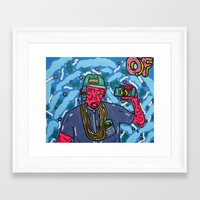 odd future Framed Art Prints featuring ODD FUTURE by TheArtGoon