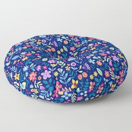 """Cute Floral pattern in the small flower. """"Ditsy print"""". Vintage. Floor Pillow"""