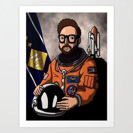 Space Captain Adam Art Print