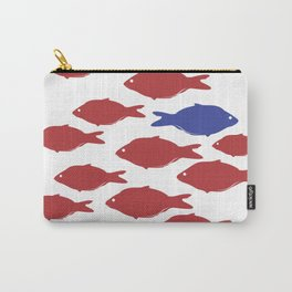 red fish blue Carry-All Pouch