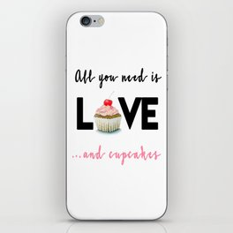 All you need is Love...and cupcakes n.1 iPhone Skin