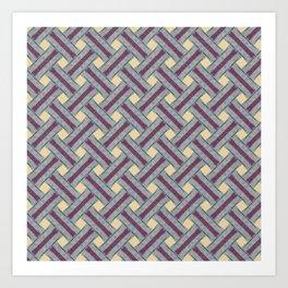 Braided pattern in retro style Art Print