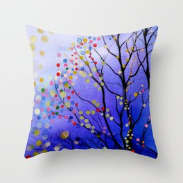 sparkling winter night sky Throw Pillow