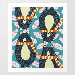 Four bears Art Print