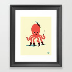 Octopus in Boots Framed Art Print