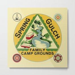 Vintage Retro Camping Spring Gulch Wanderlust Metal Print