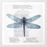 Dragonfly Poet Art Print