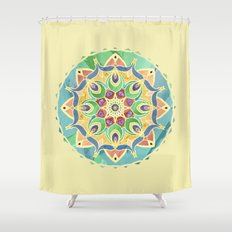 Sand and Silk Mandala 2 Shower Curtain