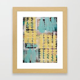 Abstract yellow and blue Framed Art Print