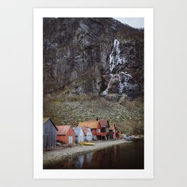 frozen water at Frafjord, Norway Art Print