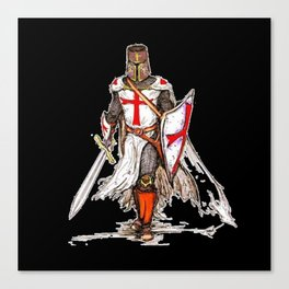 Templar Knight Canvas Print