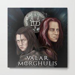 Valar Morghulis Inspiration Illustration Metal Print