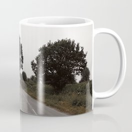 misty road in derbyshire Coffee Mug