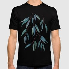 Eucalyptus leaves Mens Fitted Tee Black SMALL