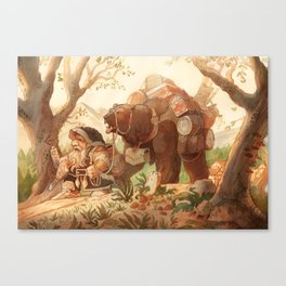 Dwarfen merchant Canvas Print