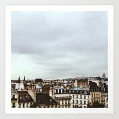Upon the rooftops Art Print