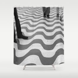 STEPS ON THE STREET Shower Curtain