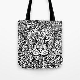 Lion Mandala Tote Bag