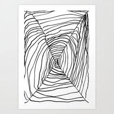 SPIDER WEB BY EDITH BOAM AGE 5 Art Print
