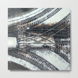 NYC Subway Tracks Metal Print