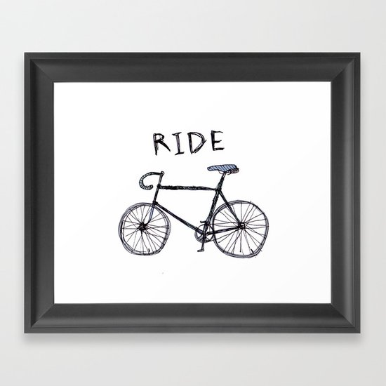 bike ride Framed Art Print