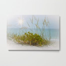 Longboat Sea Oats Metal Print
