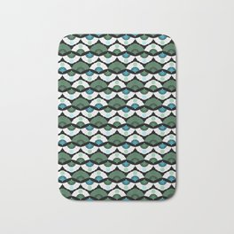 Green Vintage Bath Mat