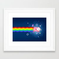bee and puppycat Framed Art Prints featuring PuppyCat by NicoleGrahamART
