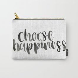 Choose Happiness Watercolour Carry-All Pouch