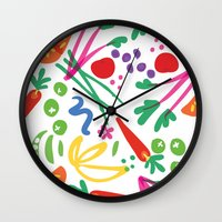 health Wall Clocks featuring Picture of Health by ColorisBrave