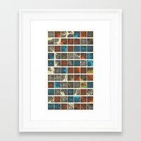 world maps Framed Art Prints featuring World Cities Maps by Map Map Maps