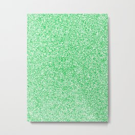 Spacey Melange - White and Dark Pastel Green Metal Print